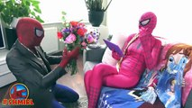 Spiderman wants attention of Spidergirl with Wedding Proposal - Fun Superheroes by SHMIRL