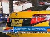 NTG: Ilang bagong taxi, gumagamit ng plakang may labing anim na numer
