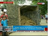 BP: Dump truck, bumangga sa welding shop at tumagilid; isa patay, 4 sugatan