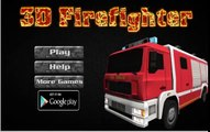 3D Firefighter Firefighters Parking Games Firefighters Kids Games