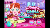 Disney Frozen Games - Princess Baby Anna Tasty Cupcake - Disney Frozen Baby videos games for kids