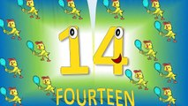 Numbers 11 to 20 For Children With Song, Números en Inglés del 11 al 20 para Niños
