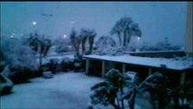 La nieve cubre la costa de Dénia (Alicante)