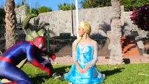 Spiderman vs Venom vs Frozen Elsa vs batman vs Joker in Real Life Superheroes Life - SPMFC