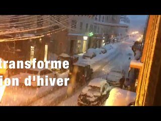 VIDEO. Corte se transforme en station d'hiver
