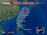 Saksi: Pagasa: Bukas na inaasahang magla-landfall ang Bagyong Mario sa Cagayan