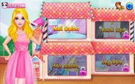 Princess Elsa Beauty Salon - Nail Salon, Back Spa, Hair Salon, Leg Spa - Elsa Game For Girls