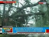 BP: Ilang lugar sa Baguio City, naputulan ng suplay ng kuryente kasunod ng bagyong Mario