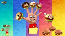 The Finger Family Burger - Family Nursery Rhyme - Burger Finger Family Songs - Family Finger Burger