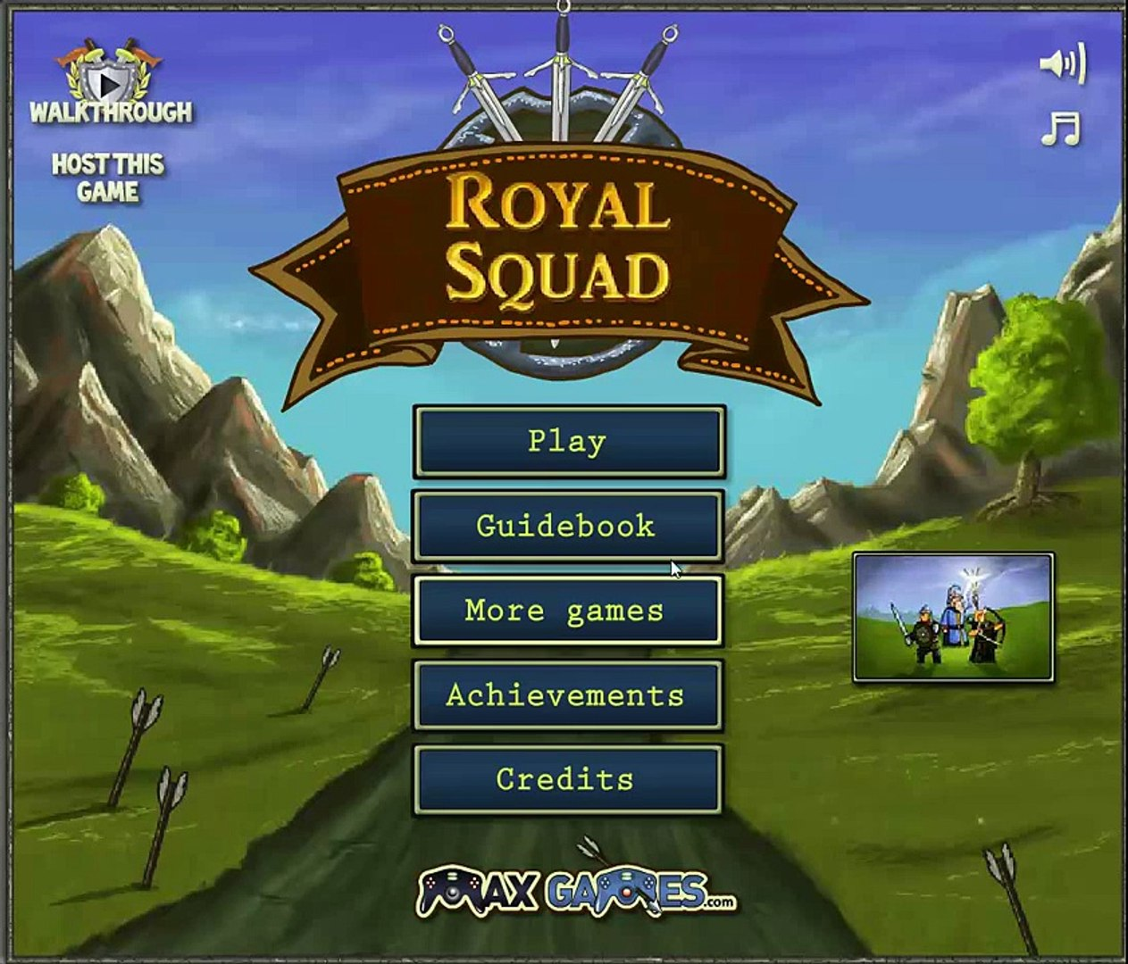 Королевский отряд (Royal Squad) игра в стиле защиты