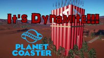 Let's Ride a Roller Coaster | It's Dynamite | Planet Coaster | Placeable Custom Ride With Scenery