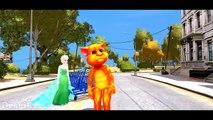 Talking Tom Frozen Elsa Nursery Rhymes! Talking Tom Colors! Funny Animation for Kids