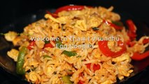 Egg noodles - How to make egg vegetable noodles - Street food recipe[via torchbrowser.com]