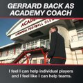 Steven Gerrard returns to Liverpool FC as coach - 20/01/17