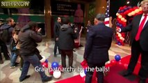 Topless Femen Protest Against Donald Trump in Madrid- Topless Girl Protest at Waxwork Museum Madrid - YouTube