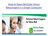 How to Open Multiple Yahoo Messengers in a Single Computer