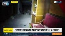 Valanga su hotel Rigopiano, les premieres immages à l'interieur no de