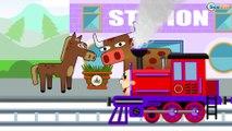 Tren infantiles - Caricaturas de Trenes - Dibujos animados educativos