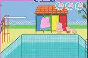 Peppa Pig Games - Peppa Pig Swimming And Diving Game - Daddy Pigs big splash