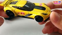 Tomica & Hot Wheels Toy | Corvette C7.R Vs Steam Locomotive | Kids Cars Toys Videos HD Collection
