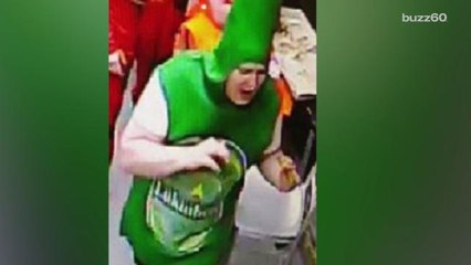 Man Accused of Stealing Pizzas While Dressed as a Beer Bottle