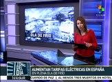 España: aumentan tarifas eléctricas en plena ola de frío