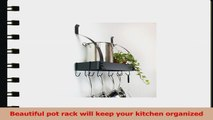 Contour Essentials Stainless Steel Wall Mounted Kitchen Pot Rack with 10 Hooks 6037cf31