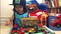 Toy Trucks For Kids - SEMI TRUCK TONKA Big Rig Off-Road Transporter Tractor Trailer Disney Cars Mack