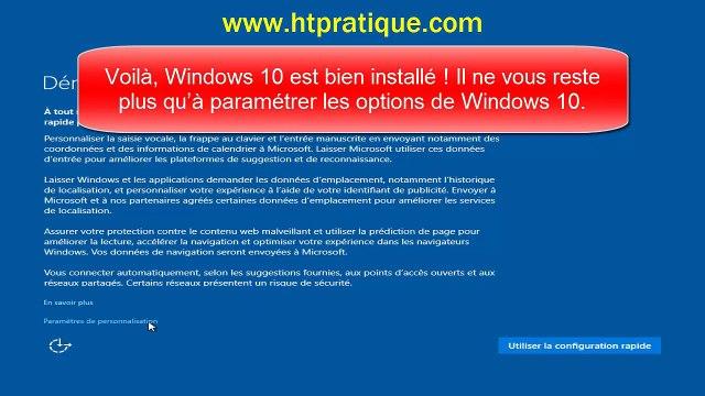 Comment installer Windows 10 avec une clé USB ou DVD d'installation