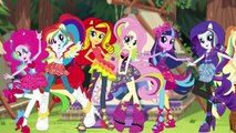 My Little Pony Transforms Equestria Girls Mane 7 Rainbow Rocks into Legend of Everfree Campers