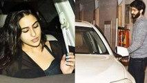 Sara Ali Khan & Harshvardhan Kapoor SPOTTED Outside Kareena Kapoor & Saif Ali Khan Residence