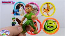 Learn Colors Angry Birds Movie Nick Jr Paw Patrol Disney Pokemon Surprise Egg an