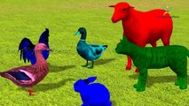 Learn colors 3d Dinosaur With Text lesson for Nursery Children Finger Family Rhymes