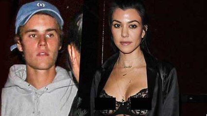 Kourtney Kardashian Flashes Nipples On Night Out With Ex Justin Bieber