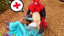 Is Spiderman CHEATING on Frozen Elsa & KISSING Superwoman The Little Mermaid? w/ Maleficent!