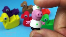Play Doh Ducks Surprise Toys, Peppa Pig, Daddy Pig, Mummy Pig, George Pig by SR Toys Collection