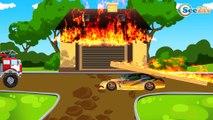 The Red Fire Truck Responding in the City | Bip Bip Cars & Trucks Cartoon for children
