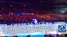 Handball: France-Islande, record de spectateurs battu