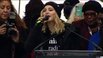 Madonna 'Blowing up the White House Speaking at WomensMarch protest Madonna Speech