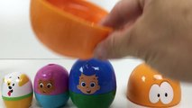 Bubble Guppies Stacking Cups - Open Surprise Eggs Mr. Grouper find Molly then Gil and Bubble Puppy