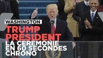La cérémonie d'investiture de Donald Trump en 60 secondes chrono