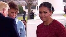Michelle Obama n'a pas pu cacher sa gêne en recevant ce cadeau de Melania Trump