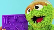 Sesame Street Play Doh Oscar The Grouch Feeds Trash Play Doh to Cookie Monster Love Trash