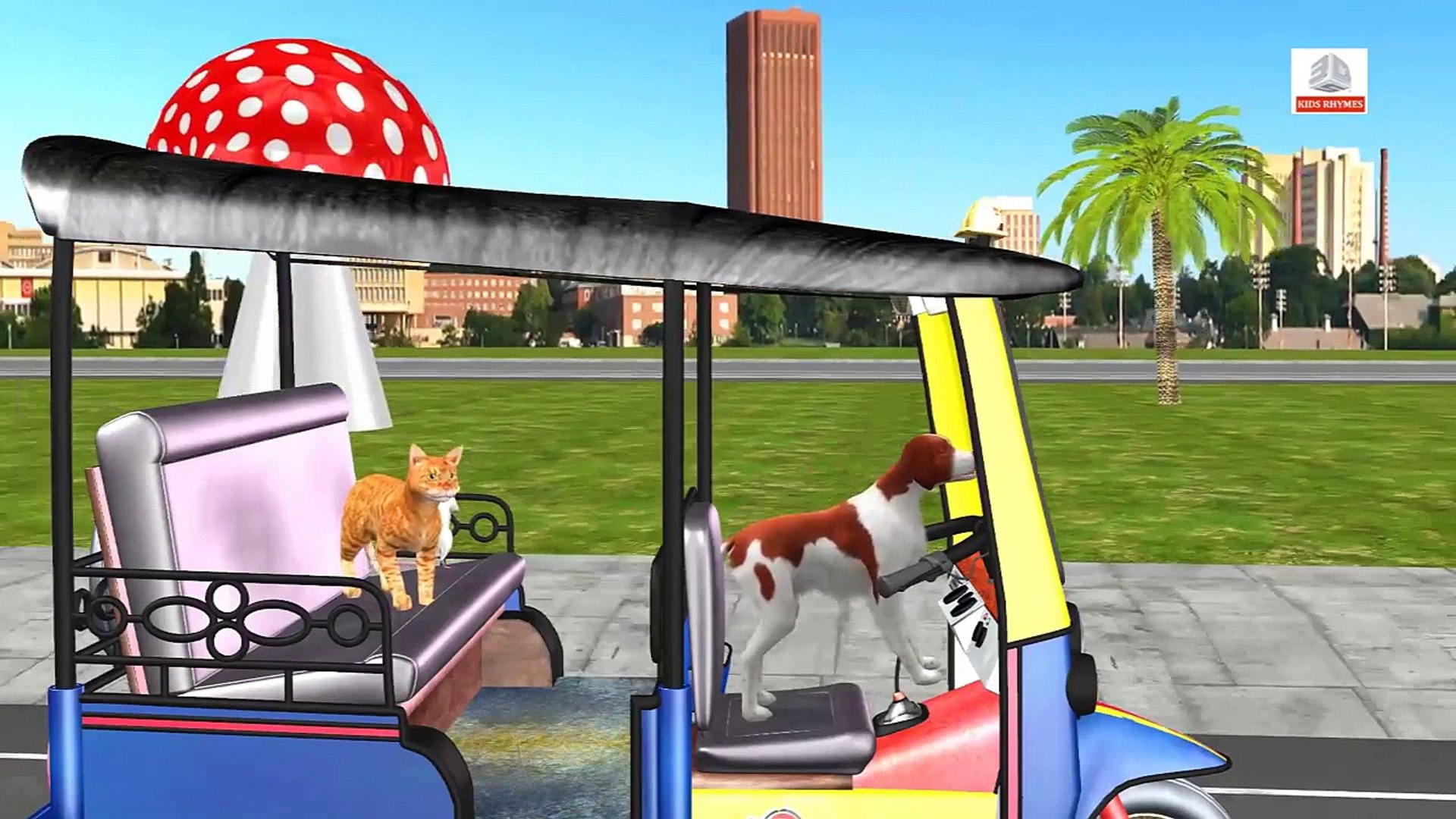Learn Street Vehicles | Learn Animals | Animals Accident | Animals prank | Fun Learning Videos