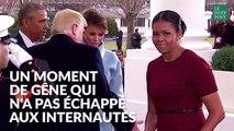 Michelle Obama n'a pas pu cacher sa gêne devant le cadeau de Melania Trump