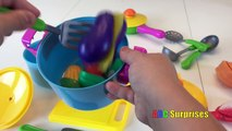 VELCRO Toy Foods Cutting & Learn Names Fruits & Vegetables Fun for Kids of All Ages ABC Surprises