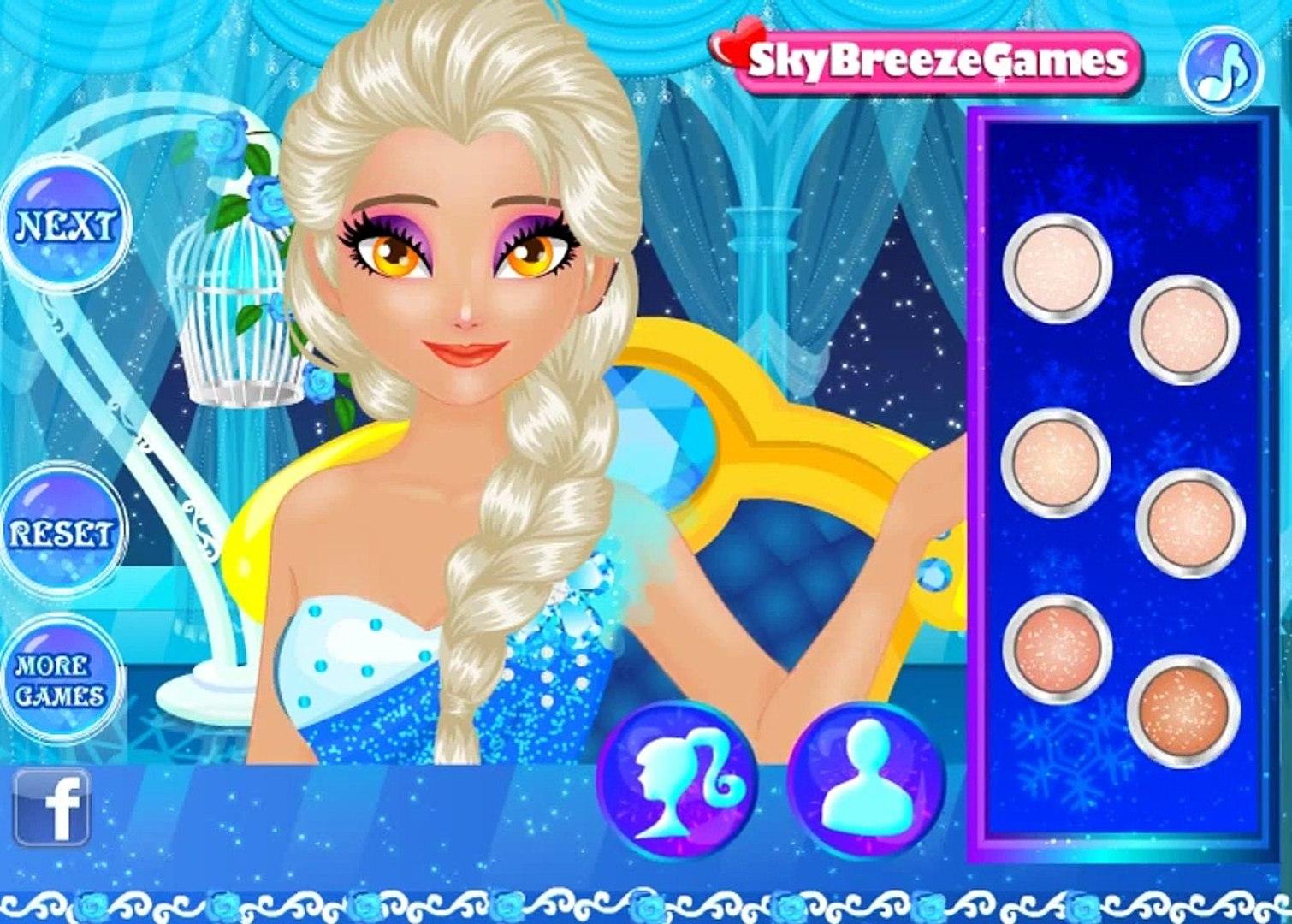 Супер макияж для Эльзы! Игры для девочек! Детские игры!