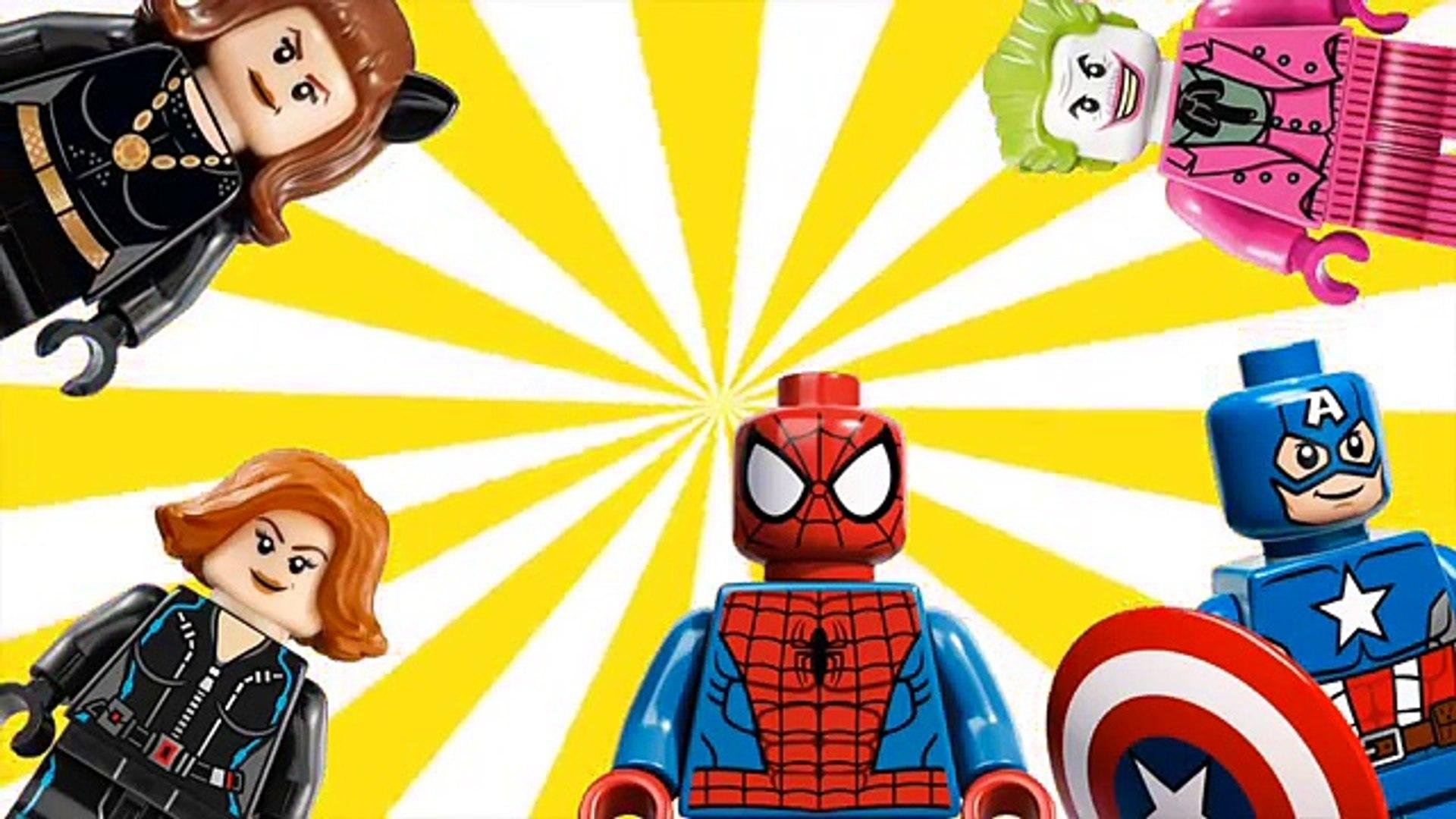 Женщин-кошек в Джокер V-паук в Капитан Америка и Черная Вдова | папа палец песня #анимация #весело