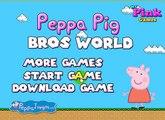Peppa Pig Bros World - Peppa Pig Playing Like Super Mario ♥