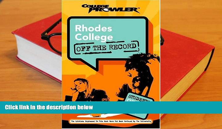 Audiobook  Rhodes College: Off the Record (College Prowler) (College Prowler: Rhodes College Off